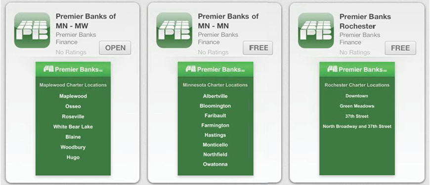 Mobile Banking App screens