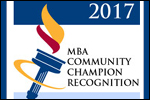 January 2017 – MBA Community Champion Award